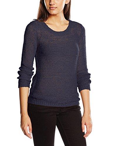 Only Onlgeena XO L/S Pullover Knt Noos - Felpa Donna, colore blu (navy blazer), taglia  XL