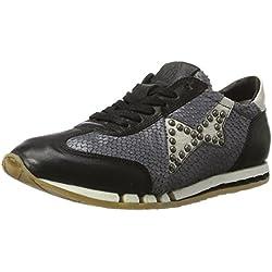 A.S.98 Damen Trip Sneaker, Schwarz (Nero/Mirtillo/Bianco/Nero/Bianco), 39 EU
