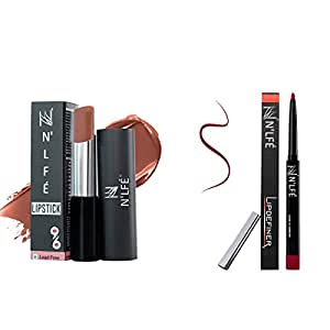 Nelf 9 To 6 Lipstick, Cream Cup, 30g and Lip Definer, Berry Berry, 1g