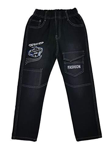 Bequeme Jeans mit rundum Gummizug, in Schwarz, Gr. 92/98, J66.2