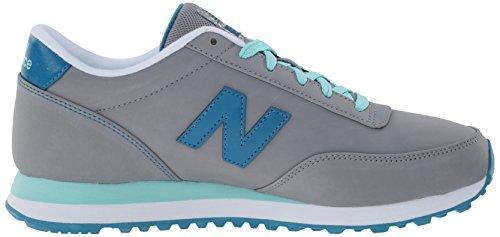 New Balance Womens Classics Traditionnels Synthetic Trainers Grigio/Azzurro chiaro