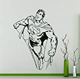 adesivo da parete Film di Superman American Comics Character Art Special progettato casa decalcomania per la camera da letto dei ragazzi