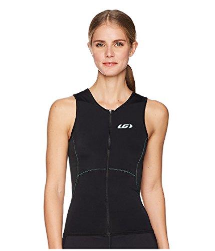 Louis Garneau Damen Comp Sleeveless Triathlon Bike Top, Damen, Black/Mint, Large -