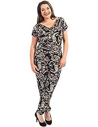 Neue Frauen Plus Size Beisammensein mit Wasserfallausschnitt Jumpsuit Kleid 42-56