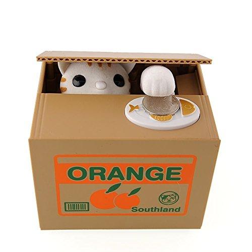 Parámetros del producto: Material: ABS + Componentes electrónicos Dimensión: 12 * 10 * 9  Uso del método: Instalar la batería 2 * AA (no incluido), a continuación, abra el interruptor.  Contenido de entrega:  1 * Alcancía