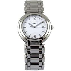 Watch Longines Primaluna Quartz L81124166 (Rechargeable) quandrante White Strap Stainless Steel