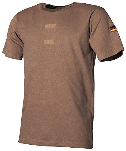 Bundeswehr Tropenhemd, Klett, Nationalitätsabzeichen, coyote, Größe 6 - Jagd-damen T-shirt