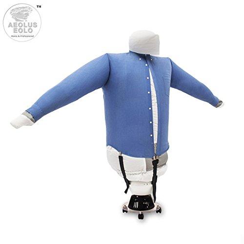 EOLO PlanchaSecadora SA02 H _ Plancha y Seca en automático y al mismo tiempo camisas, camisetas, polo, … con aire caliente. Refresca las prendas con aire frío
