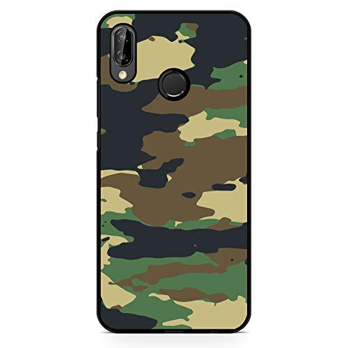 Premium Handyhülle Camouflage aus Silikon | Pastell Pink Army Tarnfarbe Camo Tarnung Grau Grün Braun, Kompatibel mit Handy:Huawei P9 Lite, Hüllendesign:Design 3 | Silikon Schwarz