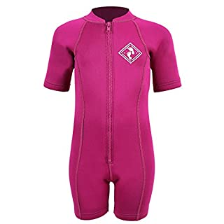 Aquatica Baby Toddler Wetsuit First Wetsuit Full Neoprene (S, Raspberry)