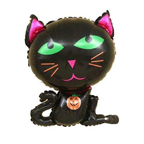 Schwarz Katze Muster Tierballon Heliumballon Party Deko Kinder Geschenk (Schwarze Katze Halloween)