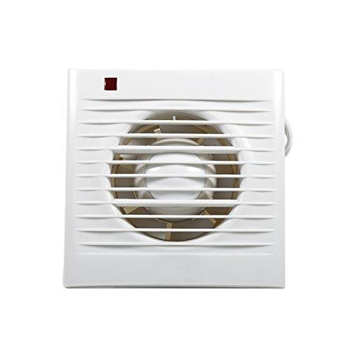 Yosoo Ventilatore da estrazione, silenzioso, estrattore aria, da parete, per cucina, bagno, ideale per un uso domestico, 2-16㎡