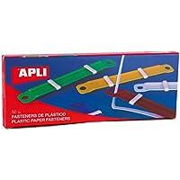 APLI 14909 - Fásteners de plástico completos colores surtidos, 50 unidades