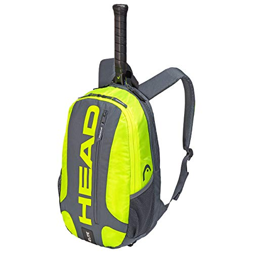 HEAD Unisex - Erwachsene Elite Backpack Tennistasche, Grey/neon Yellow, Andere