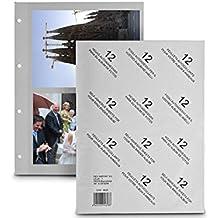 Hoja Album Fotos Folio Adhesiva 12 Unidades