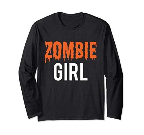 Halloween Familie Zombie Mädchen Kostüm für Mädchen Langarmshirt (Matching Mädchen Kostüm)