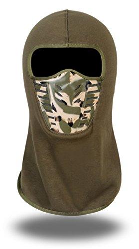 Winter Voller Sitz (Erwachsenen Fleece Greifen Sturmhauben Volle Gesicht Cover Radfahren Winddicht Ski Maske Hut - Armeegrün2)