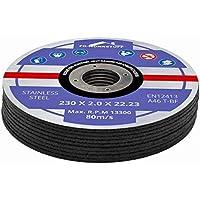 10 Stück Trennscheiben Ø 230mm x 2.0mm für Winkelschleifer Stahl Edelstahl Flexscheibe Inox Metall