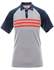 Adidas ClimaCool 3 Stripes Competition T-shirt Polo de Golf Homme