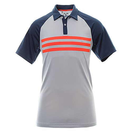 Adidas Golf Climacool 3 Stripes Competition Polo Shirt, Herren M grau (Polo Climacool Golf)