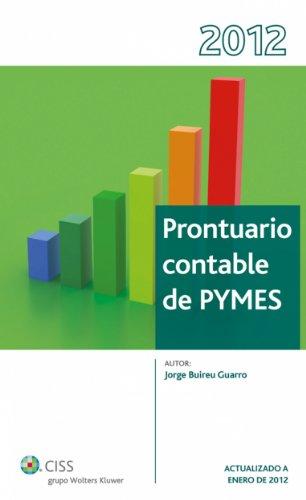 Prontuario Contable Pymes (Prontuarios) por Jorge Buireu Guarro