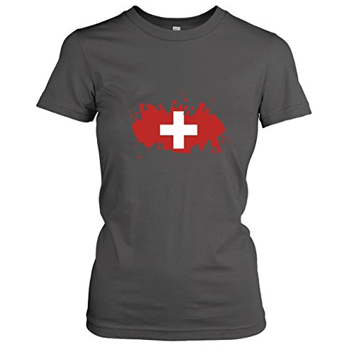 TEXLAB - Splash Schweiz - Damen T-Shirt Asphalt