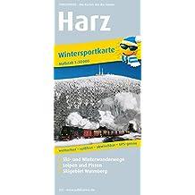 Harz: Wintersportkarte mit Ski- und Winterwanderwegen, Loipen und Pisten, wetterfest, reissfest, abwischbar, GPS-genau. 1:50000 (Wintersportkarte / WINK)