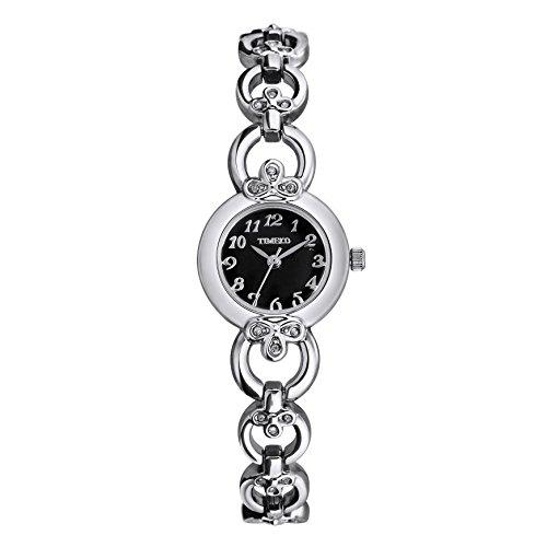 Time100 orologio bracciale donna acciaio, elegante, colore nero#w50053l.02a