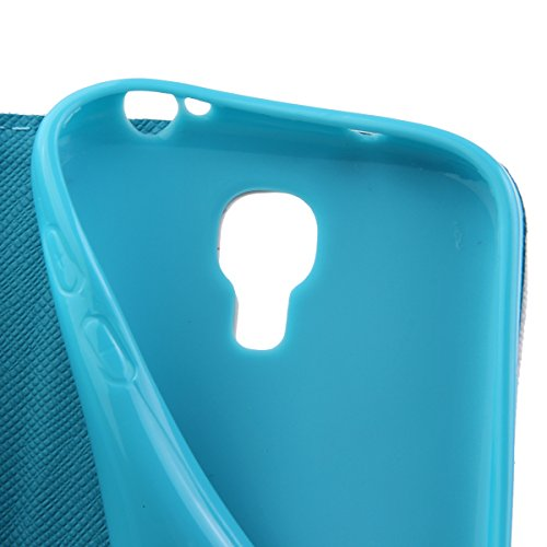 Coque pour Samsung Galaxy S4, ISAKEN Élégant Style PU Cuir Flip Magnétique Portefeuille Etui Housse de Protection Coque Étui Case Cover avec Stand Support pour Samsung Galaxy S4 SIV I9500 I9505 (#9) #15