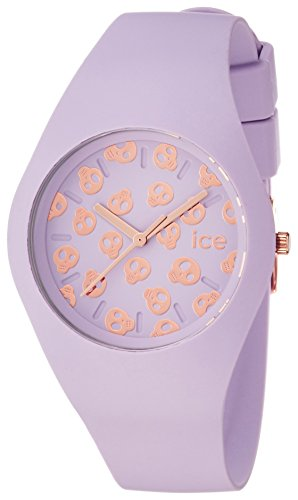 Ice Watch Ice Skull Lilac Women's Quartz Analogue Watch with Violet Dial and Violet Silicone Bracelet ICE.SK.LIL.U.S.15