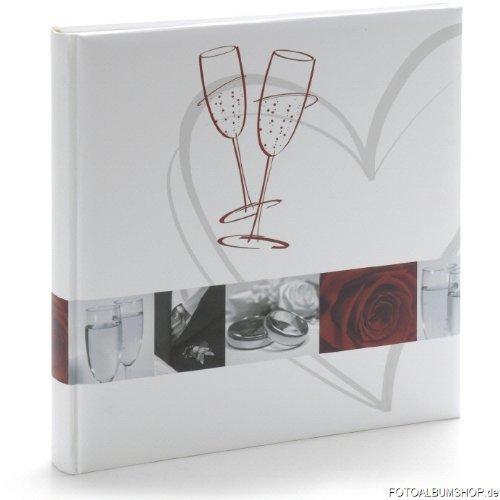 Fotoalbum Wedding mit Herz und Gläsern