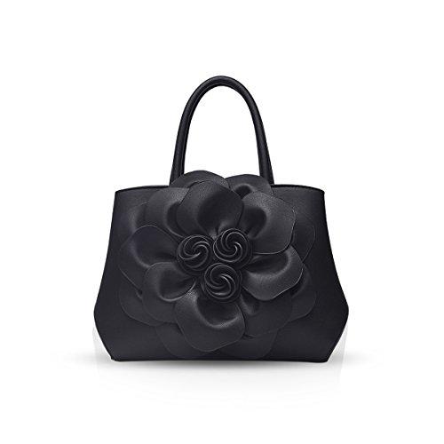 NICOLE & DORIS Trendy Damen Schultertasche Handtasche Crossbody Tasche Blumenmuster
