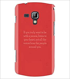 PrintDhaba Quote D-4974 Back Case Cover for SAMSUNG GALAXY S DUOS 2 S7582 (Multi-Coloured)
