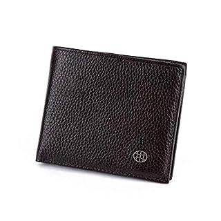 I-AM Anti-Diebstahl-Geldbörse Anti-Theft, Sonor Herren Geldbörse mit Warning Echtes schwarzes Leder, nachfüllbar, bis zu 50 Tage Leben, Kartenhalter Männer Geschenk