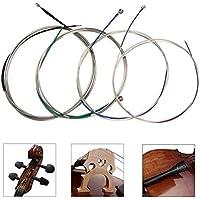 Cuerdas para violonchelo Juego completo (A-D-G-C) Núcleo de acero universal Níquel-cromo enrollado con extremo de bola niquelado para 4/4 3/4 1/2 1/4