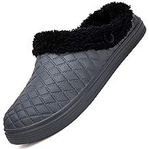 Easondea Zuecos de Las Zapatillas de jardín Zuecos y Sabot Hombres Mujeres Chanclas de Invierno cálido