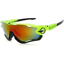 ADEWU - Sport Sonnenbrille für Herren und Damen, UV400 Schutz für Radfahren, Cycling, Angeln, Running Outdoor Sport (Orange)