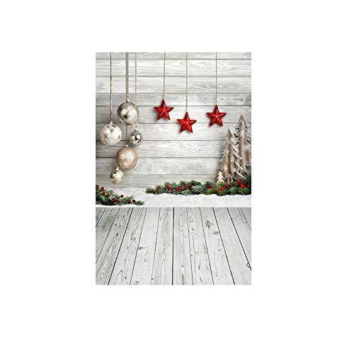 ODJOY-FAN Weihnachten Fotografie Hintergründe Schnee Vinyl 3x5FT Hintergrund Fotografie Studio Weihnachten Fotostudio 3D Hintergrund Wandtattoos Dekor 90x150cm(D,1 PC)