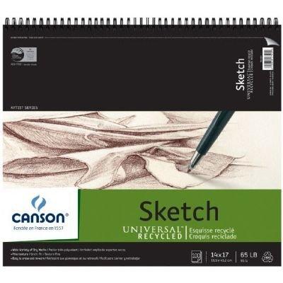 """Canson c10051101114""""x 17"""" reciclado Sketch hoja Pad"""