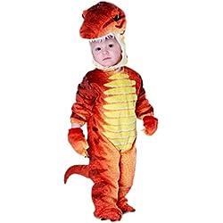lancoszp Disfraz de Tirano-saurio Rex T-Rex de Halloween para Ninos Disfraz de Dinosaurio de Carnaval Rojo, M