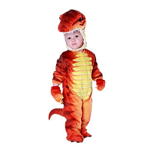 Disfraces de Dinosaurio para Ninos Cosplay Pijama dinosaurio para Fiesta Halloween Rojo 2-4 anos