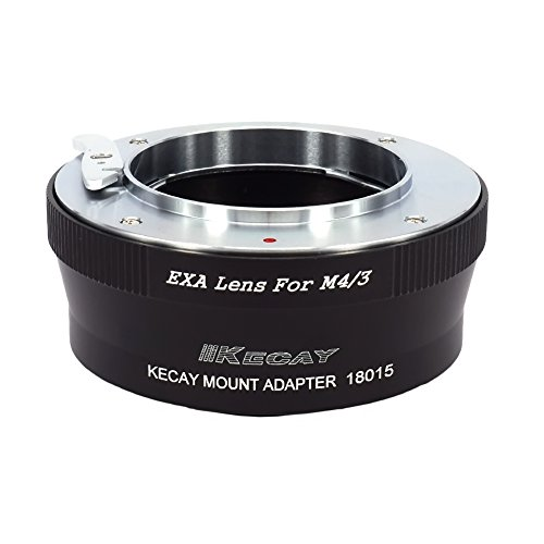 KECAY Objektiv Adapter Mount Converter für Exakta Objektiv auf Micro 4/3 M4/3 Kamera Lumix G1 G3 G10 GX1 GH1 GH2 GF1 GF3 GF5 GH4 Olympus Pen OM-D E-M5 E-M10 Objektiv Adapterring EXA-M4/3