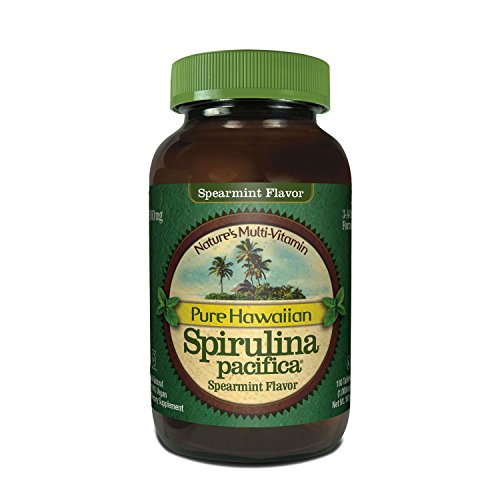 Nutrex Hawaii Spirulina Pacifica Spearmint Tablets, 180 Count - 411aqIHb4aL