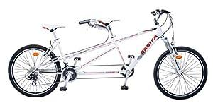 Orbita Dupla Sport Tandem-Fahrrad, weiß