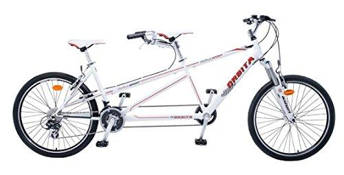 Orbita Dupla Sport Tandem-Fahrrad, weiß -