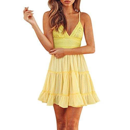 verfügbaren Angebote,kleider Ronamick Frauen Sommer Backless Minikleid Abend -