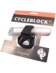 Twofish Cycleblock Schlosshalter Universal-Halterung, schwarz, 110603