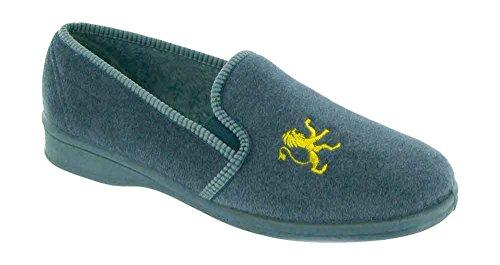 Mirak Warminster/Frank dérapante Chaussons Pantoufles pour homme Gris - gris