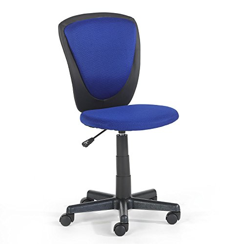 Kinderdrehstuhl Schreibtischstuhl Kinderschreibtischstuhl Drehstuhl HEINO in blau, höhenverstellbar