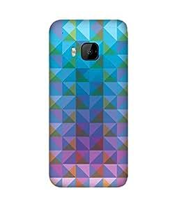 Blue Triangles HTC One M9+ Case